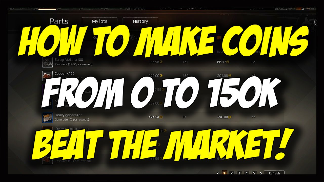Crossout How To Make Money Fast Tutorial From 0 150k Home Accessories Voucher Map 100000 Btm Beat The Market Guide Youtube