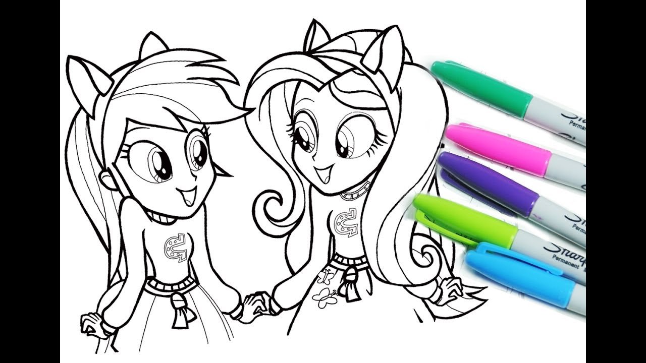 My little pony coloring pages for kids MLP coloring book equestria ...