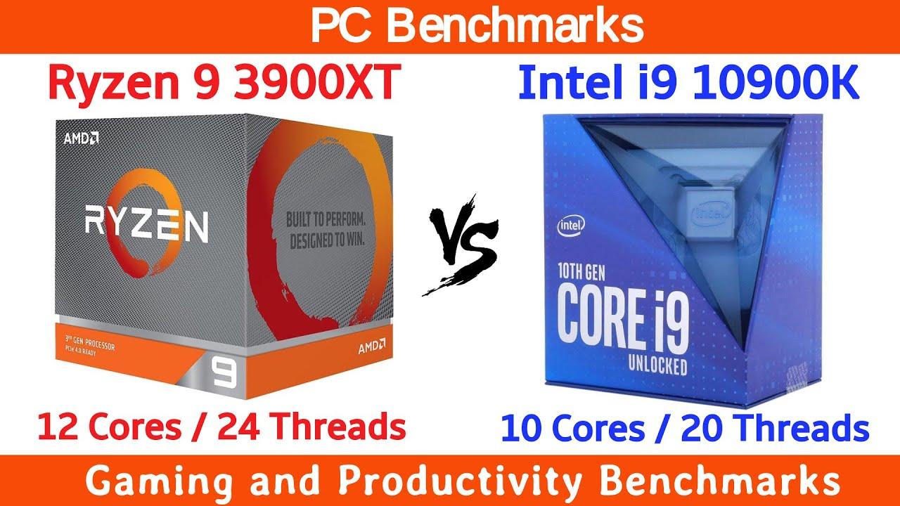 Ryzen 9 3900XT vs Intel i9 10900K Benchmarks