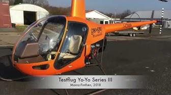 Testflug UL-Hubschrauber YoYo Series III