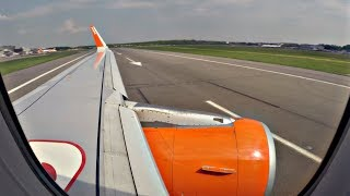 Easyjet Airbus A320 Startup & Takeoff from Gatwick | GoPro Wing View