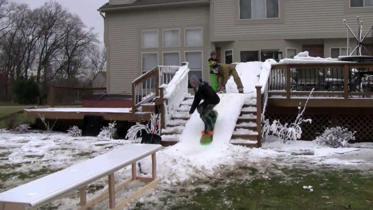 Backyard Terrain Park MAC Park Backyard Snowboard Park YouTube - Backyard snowboarding