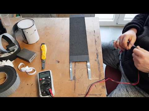 How to make a Infrared Panel from conductive ink