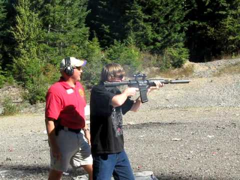 Shooting an M4 Carbine with Silencer
