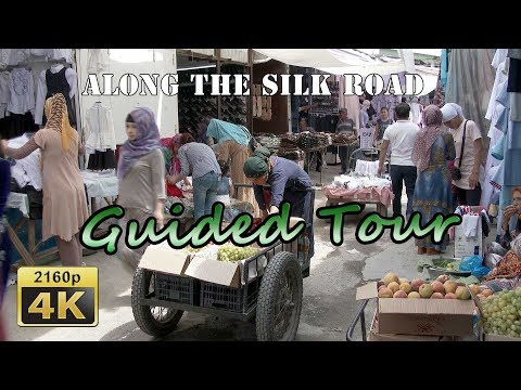 Osh, Guided Tour in City Park and Jayma Bazaar - Kyrgyzstan 4K Travel Channel