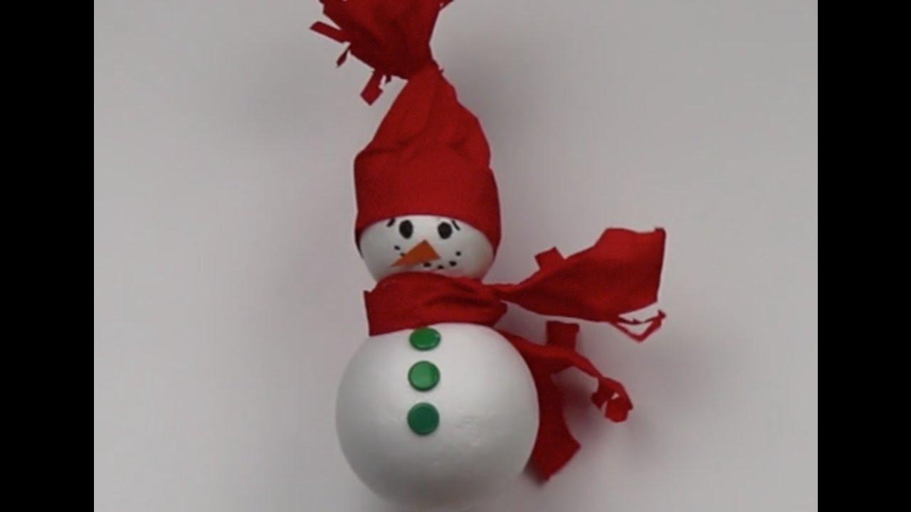 Plastik Bardaktan Geyik ve Kardan Adam Yapımı