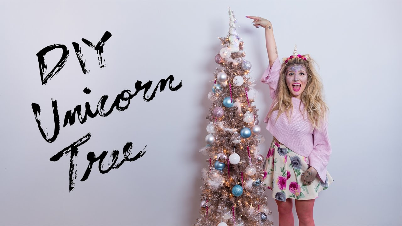 diy pastel unicorn christmas tree youtube - Unicorn Christmas Decorations