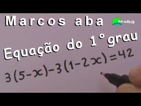 EQUAÇÃO DO PRIMEIRO GRAU - Aula 02