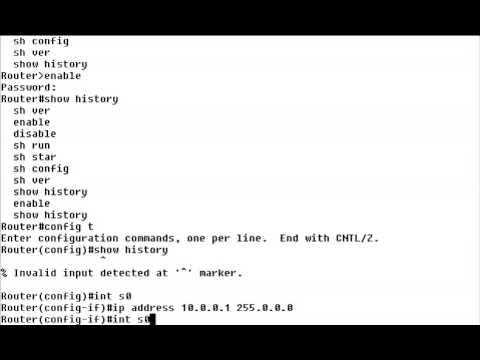Cisco IOS Command History