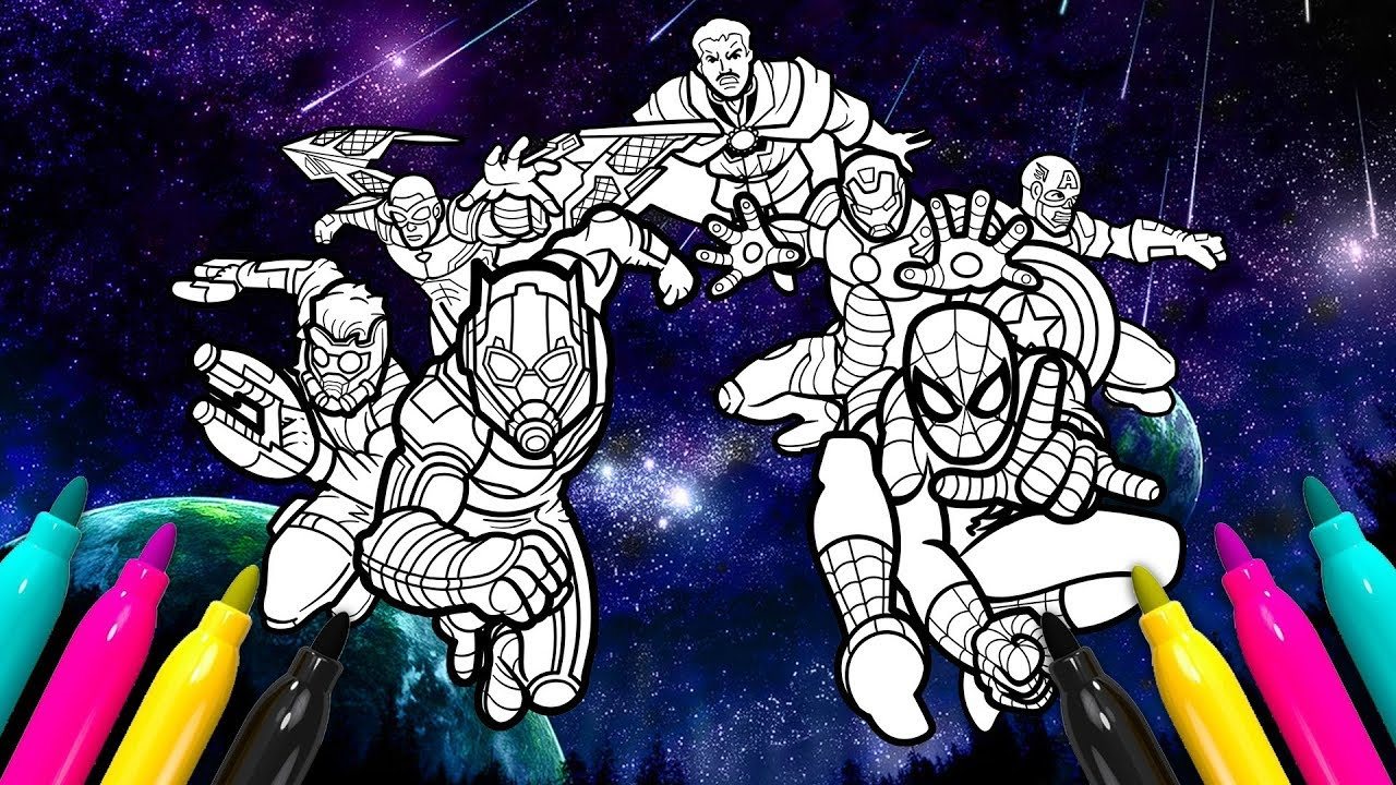 Mighty Marvel Coloring Book | Avengers Superheroes Coloring Set ...