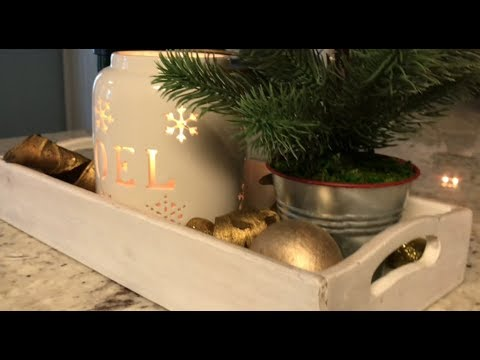 Kitchen Countertop Decor Cost To Remodel A 4 Easy Decorations Decorate With Me Day 6 Christmas 2017
