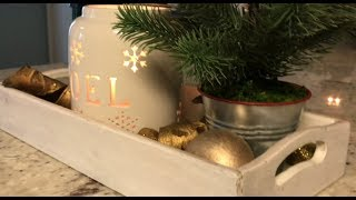 4 Easy Kitchen Countertop Decorations    Decorate With Me    Day 6 Christmas 2017