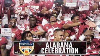 Alabama celebrates Orange Bowl win over Oklahoma