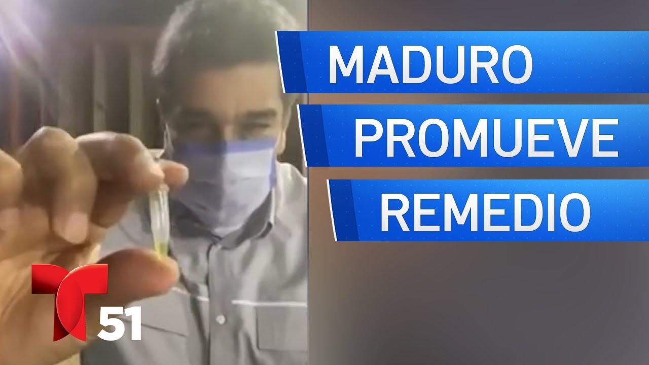 Maduro promueve remedio venezolano contra COVID-19