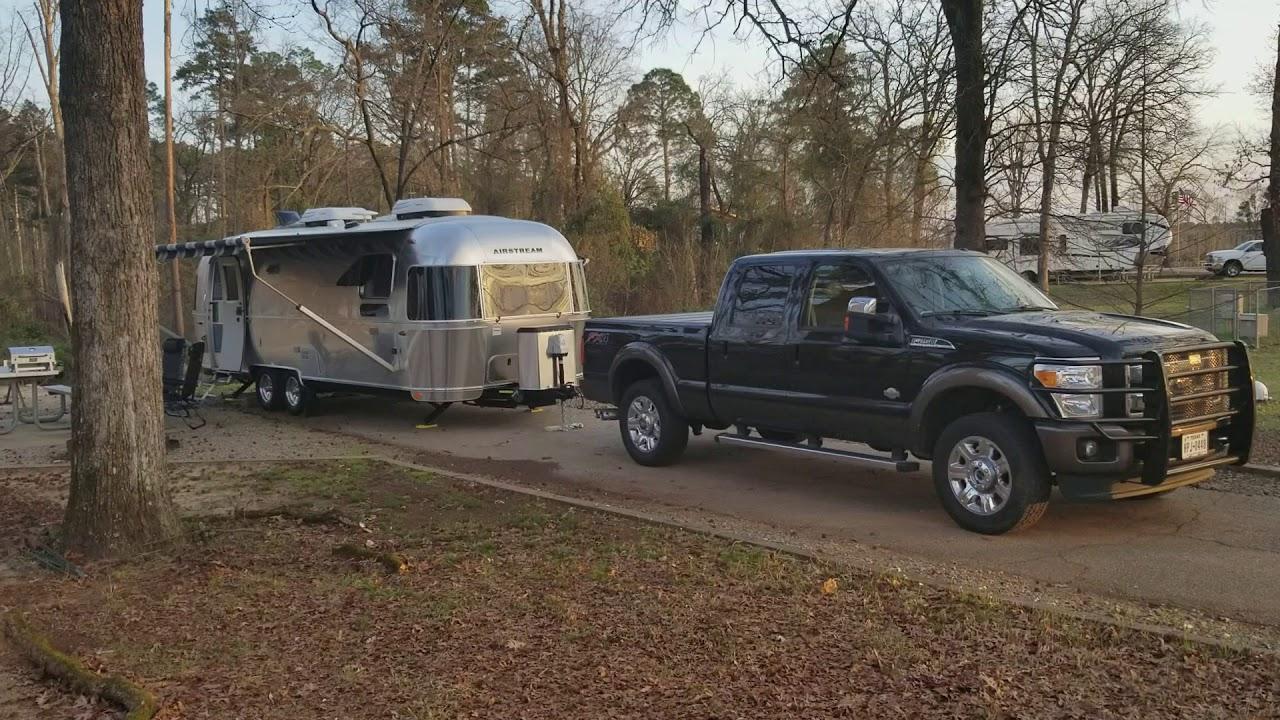 Airstream camping at Buckhorn Creek, Lake o' the Pines, TX