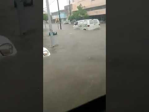"""Se inunda el centro de Los Mochis por lluvias ocasionadas por """"Ivo"""""""