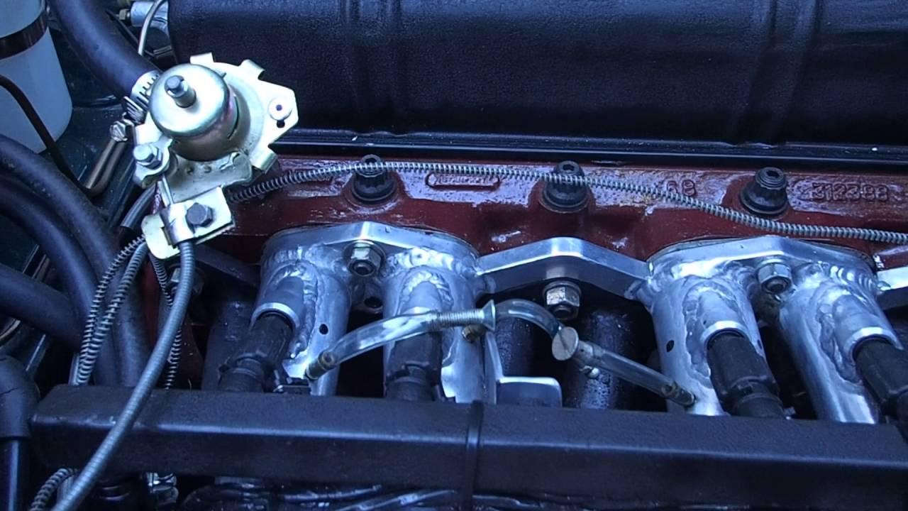 Triumph GT6 - the new engine runs - YouTube
