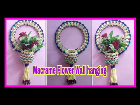 Diy// Round Shape Macrame Flower Wall Hanging #New Design.