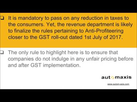 Anti Profiteering under GST law