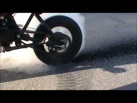 125cc Pit Bike Burnout