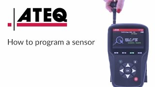How to program a blank sensor with the ATEQ VT56 TPMS tool