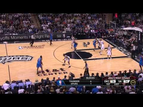 2012 NBA Playoffs: Manu vs Harden - Game 1 OKC vs Spurs