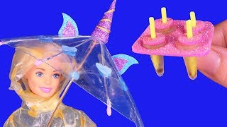 12 DIY Barbie Hacks: Miniature Popsicle Molds, Acrylic Paint, Hairpin, Open & Close Clear Umbrella