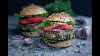 Vegan Lentil Burgers | High Protein Recipe