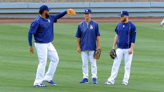 Kenley Jansen Giving Pitching Lessons Now at Dodgers 6-20-2016