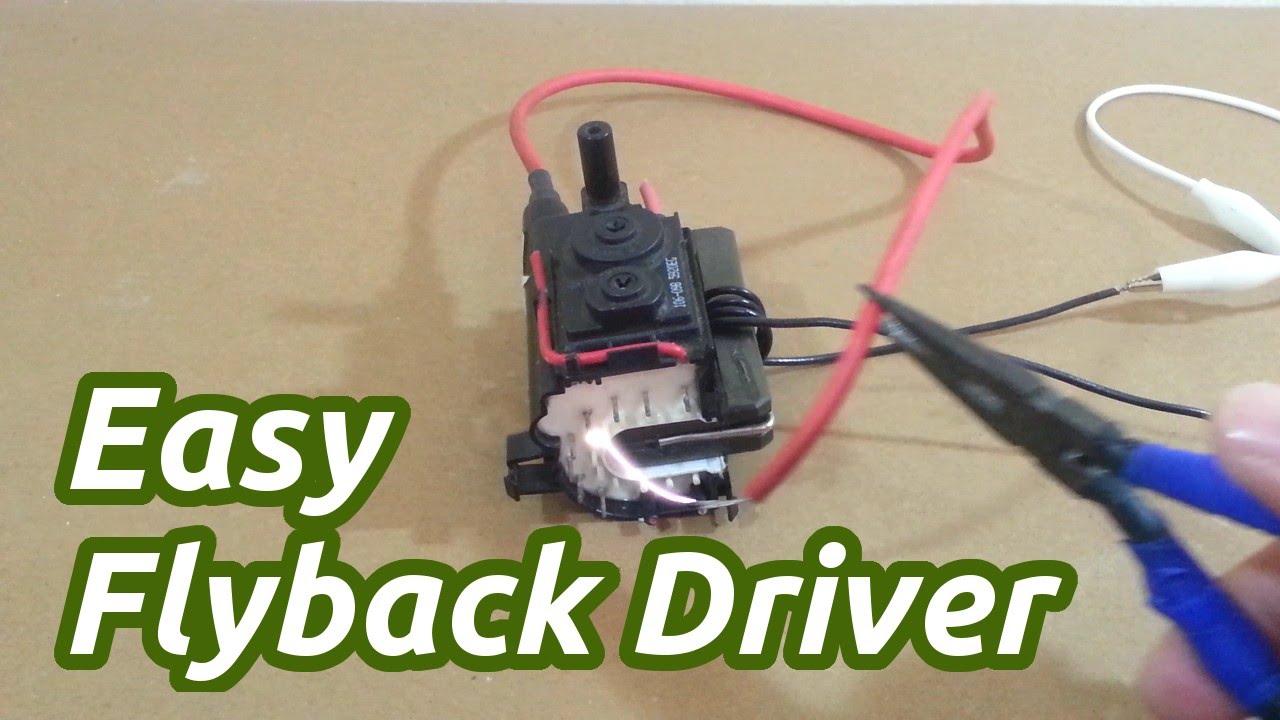 555 Timerbased Flyback Transformer Driver