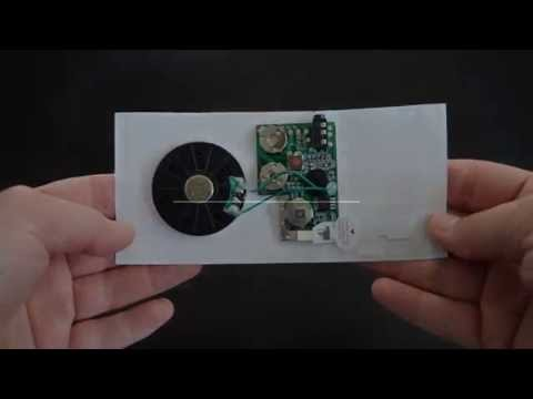Slide Tongue Sound Module for Customized Audio Greeting Cards from Invite by Voice