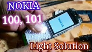 how to solve nokia 100, 101 light solution.