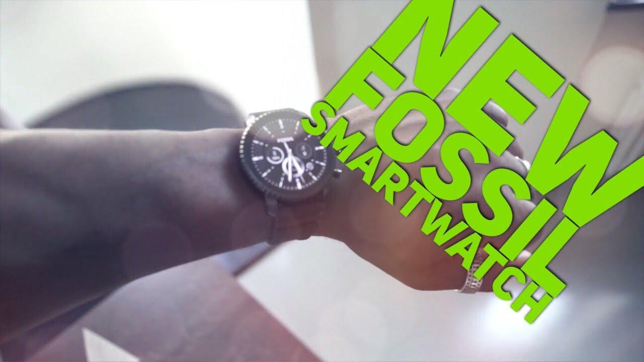 80ac67e6f Fossil Q Gen 4 Explorist Smartwatch First Impressions - YouTube