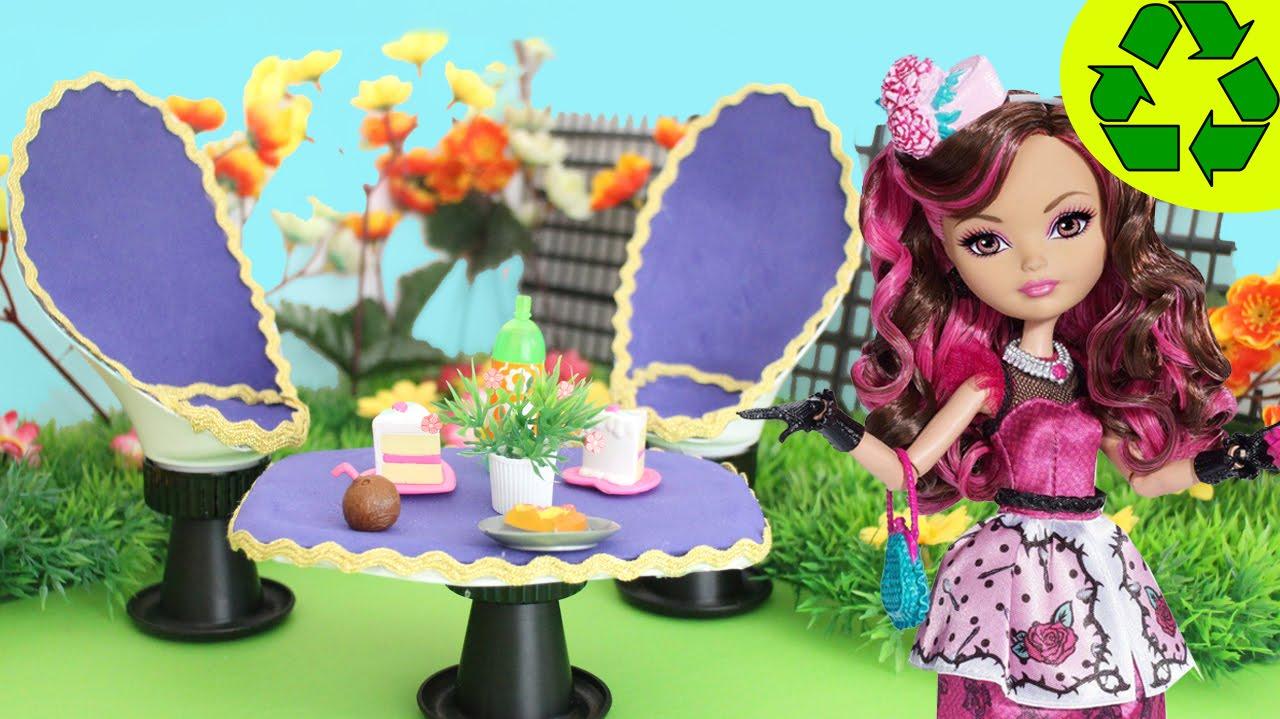 Manualidades para muñecas: Sillas + Mesa para el Jardin de tus ...