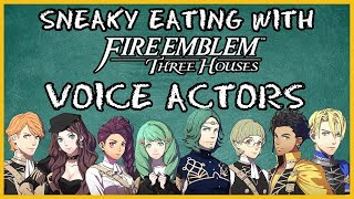 Sneaky Eating Challenge with the Voice Actors of Fire Emblem Three Houses | CASUAL MODE