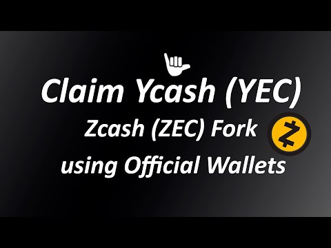 How to claim Ycash (YEC) the first friendly Zcash fork (ZEC)