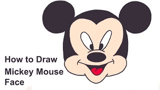 mickey mouse face draw drawing faces easy mikey step drawings clipart guide clipartmag getdrawings