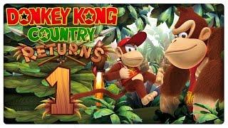 Let's Play DONKEY KONG COUNTRY RETURNS Part 1: Die Affenbande kehrt zurück!