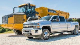 2018 Chevrolet Silverado 2500HD and 3500HD Towing John Deere Loaders