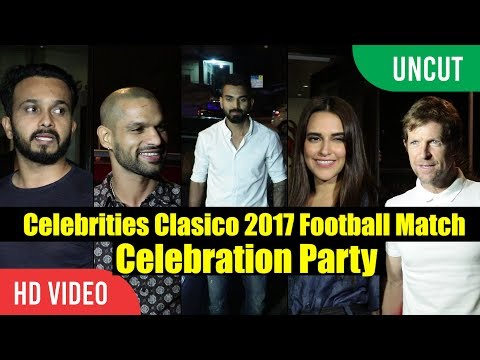 UNCUT - Celebrities Clasico 2017 Celebration Party | Shikhar Dhawan, K.L Rahul, Jonty Rhodes...