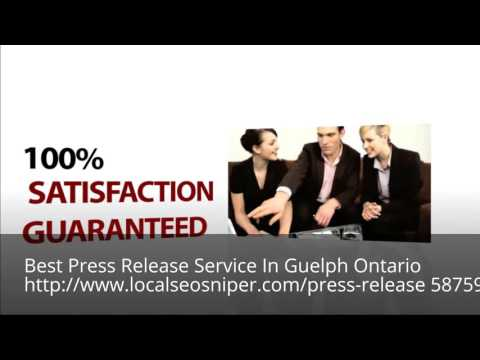 Press Release Distribution In Guelph Ontario