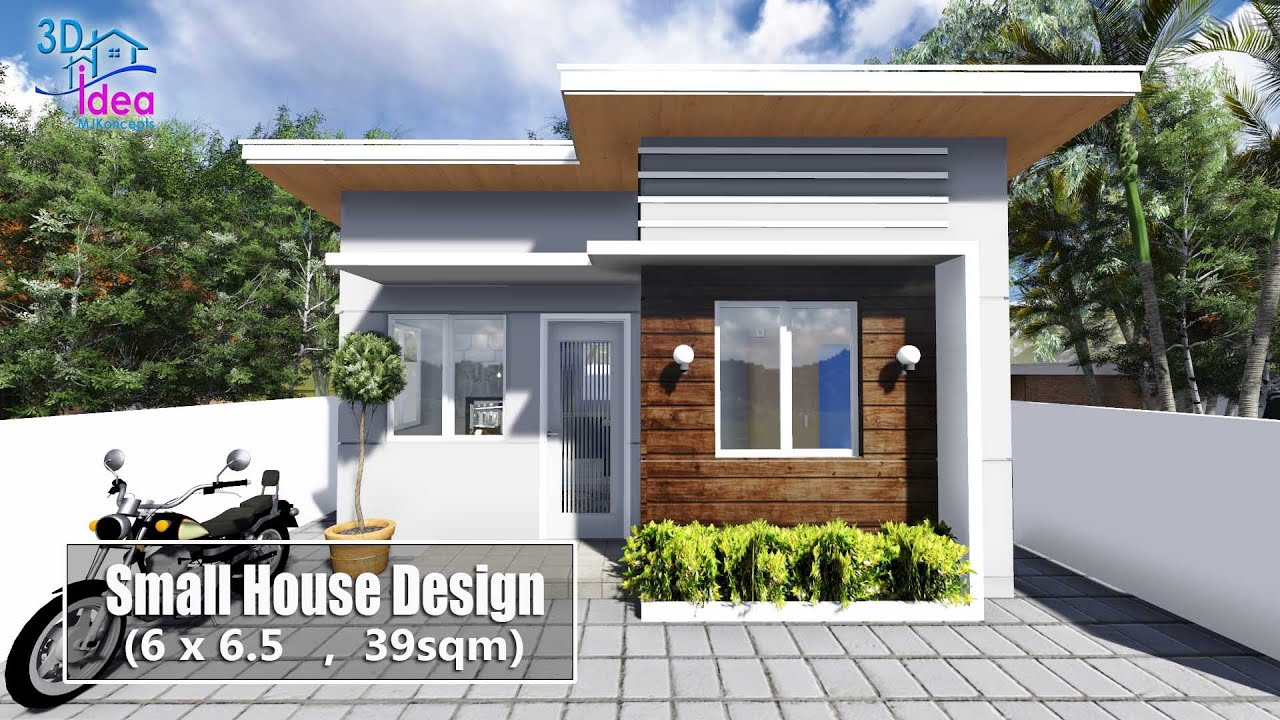 20 Small House Design 6x6 5 Meters Youtube Small House Design Architecture Model House Small House Design 3d