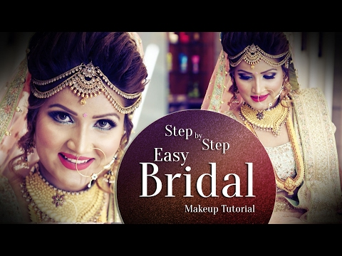 Beautiful Makeup For Indian Bride | Step By Step Easy Bridal Makeup Tutorial 2017 | Krushh By Konica