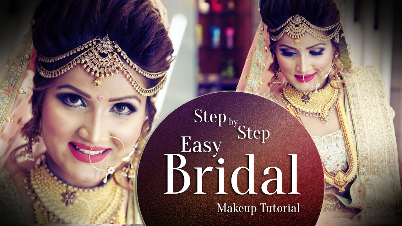 beautiful makeup for indian bride   step by step easy bridal makeup tutorial   krushh by konica