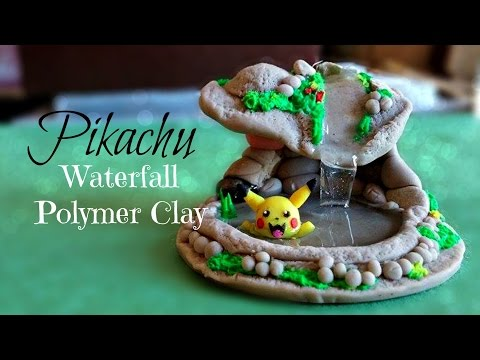 Pikachu + Waterfall ♥ Polymer Clay Tutorial / Arcilla Polimérica