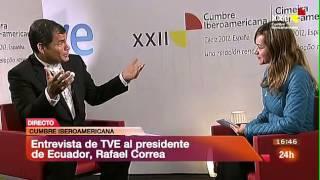 Correa pregunta en directo en el Canal 24 Horas por Anita Pástor