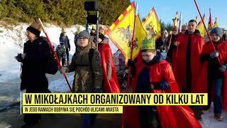 Orszak Trzech Króli w Mikołajkach
