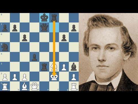 LECCIÓN AL NO DESARROLLO: Meek vs Morphy (USA, 1855)