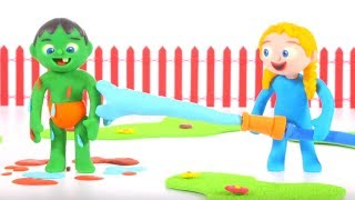 Kids Playing With Water ❤ Cartoons For Kids
