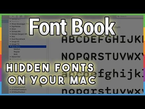12 Hidden Free Fonts in Catalina - Hands-On Mac 13